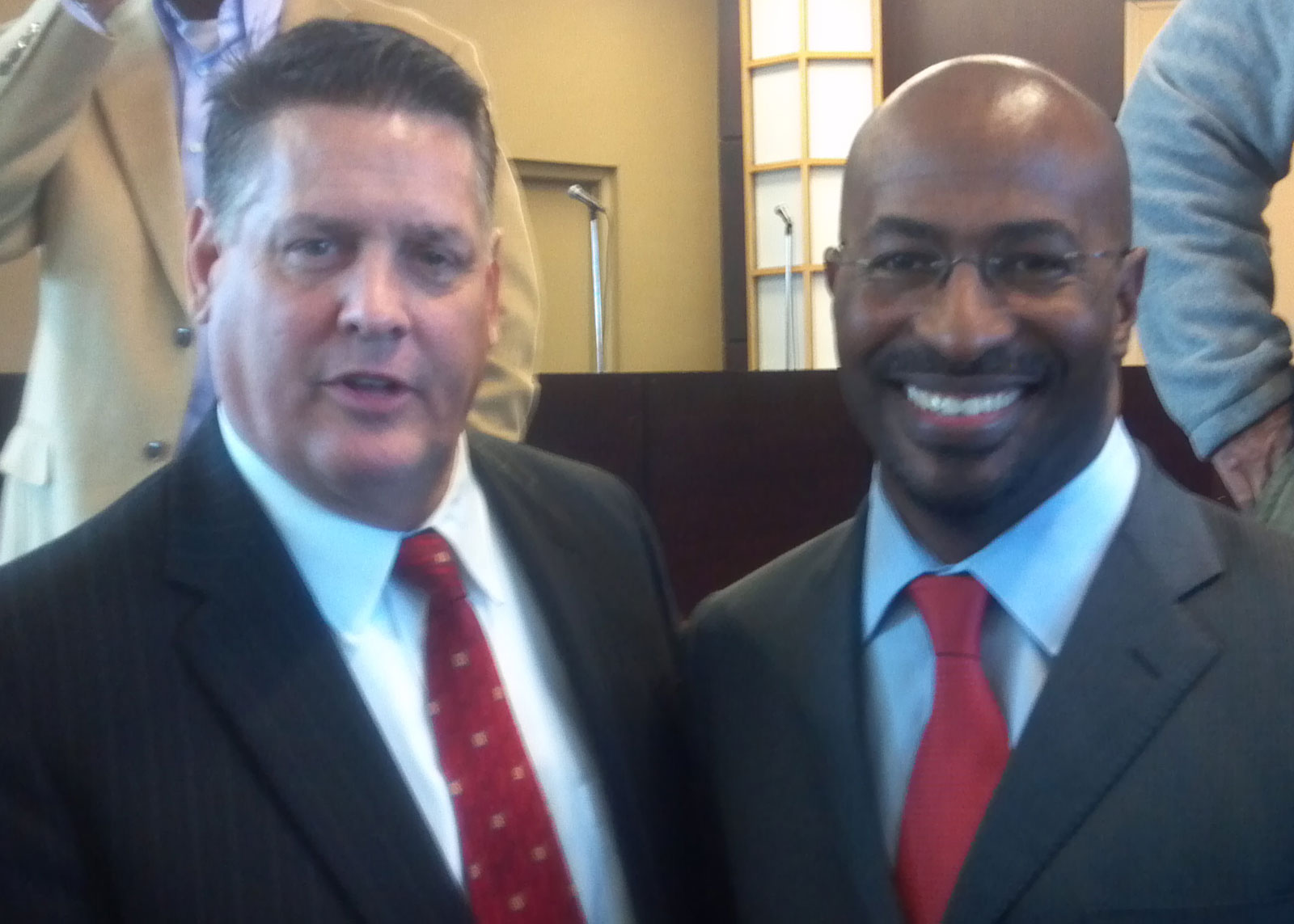 Jim Flanagan with Van Jones, Special consultant to former President Barack Obama