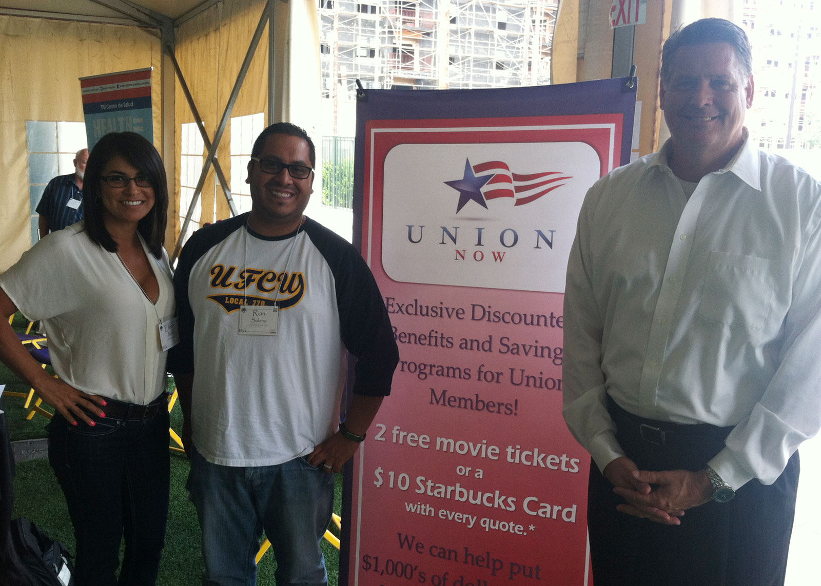 Union Now at LA County Federation of Labor Event