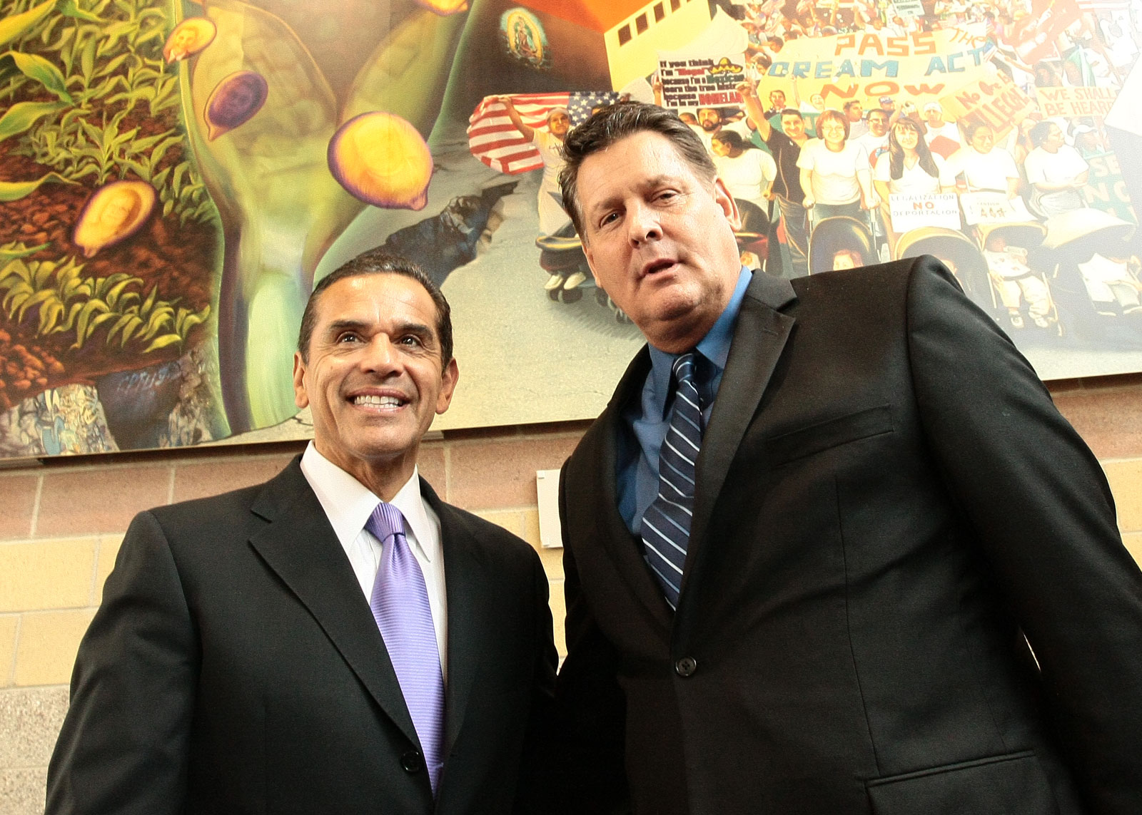 With former Los Angeles Mayor Antonio Villaraigosa