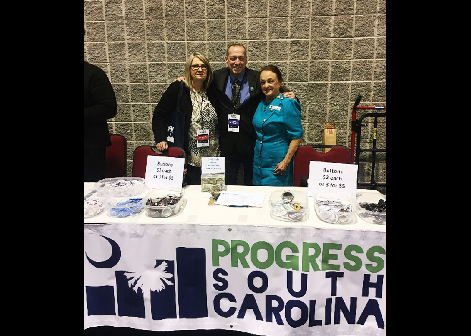 The BIG Three: Mike Morrill, President, Grey Roots, Erin Mckee, President, AFLCIO & Donna Dewitt, President, SCCAN ARA