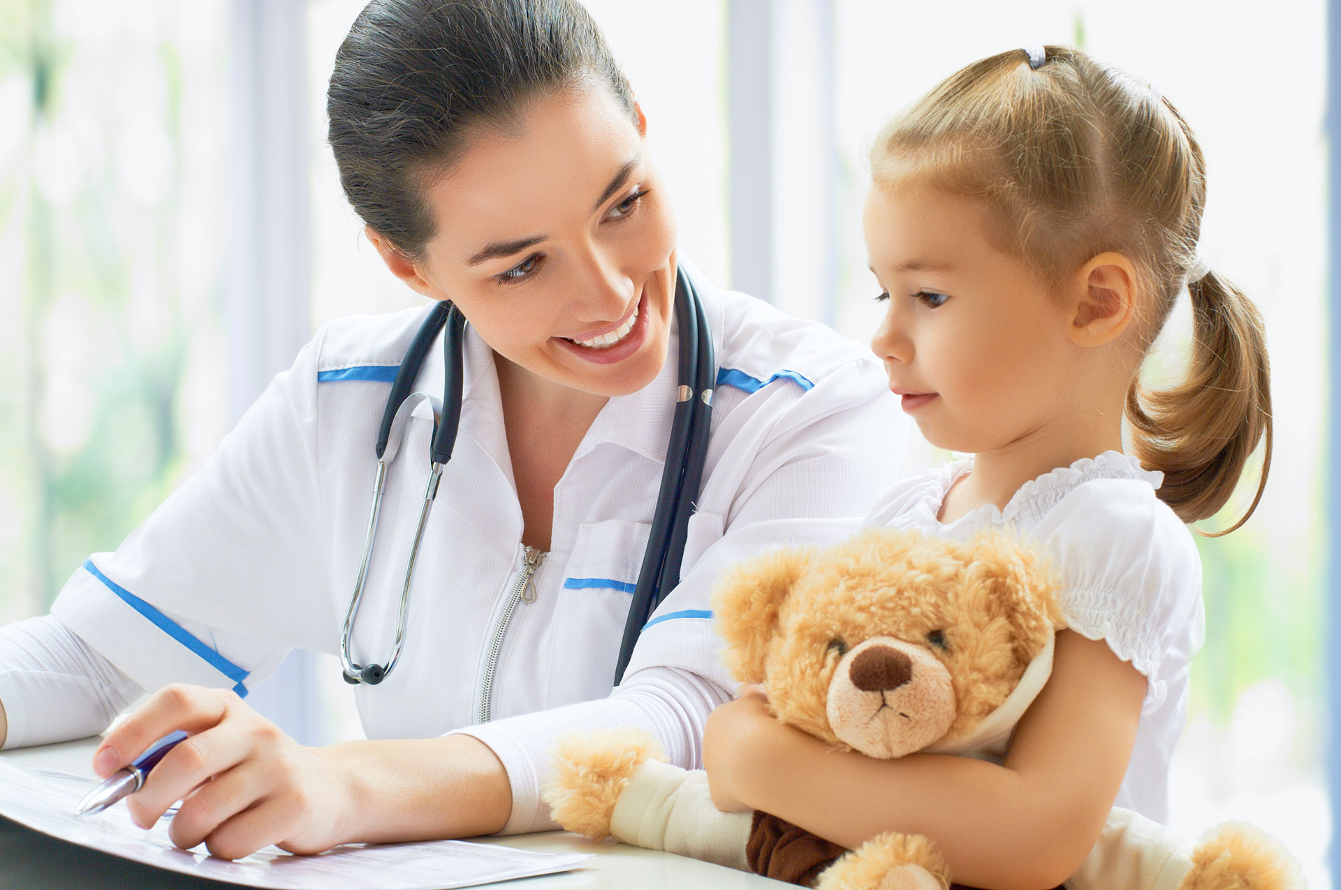 Pediatrician with Child